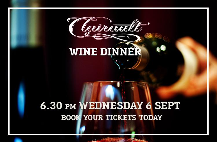 Clairault Wine Dinner