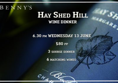 Hay Shed Hill Wine Dinner